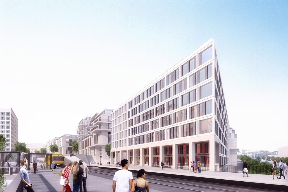 twotel hotelkomplex europaviertel stuttgart eike becker architekten. Black Bedroom Furniture Sets. Home Design Ideas